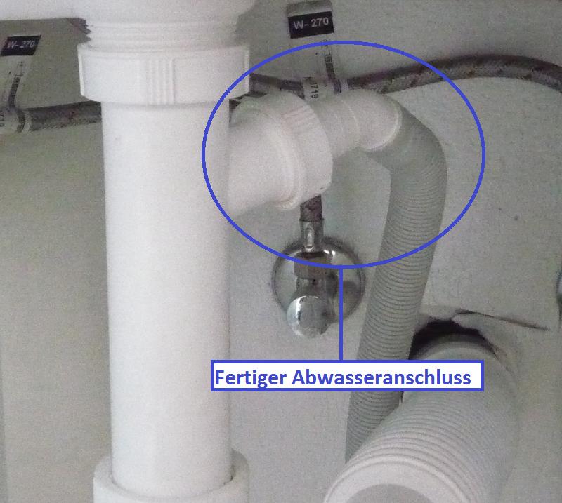 abwasserabfluss für die waschmaschine