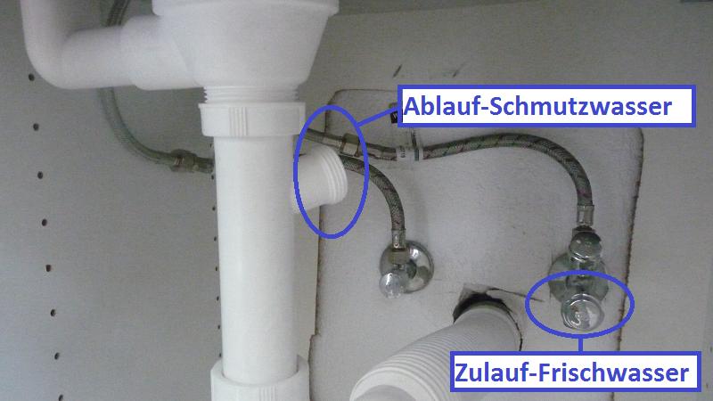 Spülmaschine anschließen wie die Profis! ~ Waschmaschine Wasseranschluss