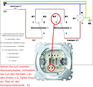 wechselschaltung 2 schalter